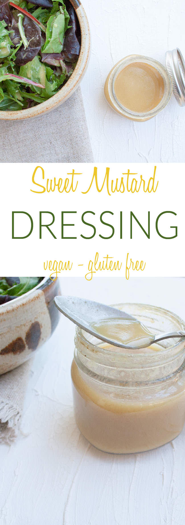 Sweet Mustard Dressing collage photo with text.