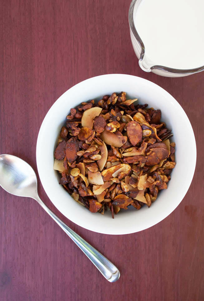 Grain Free Granola birds eye view.