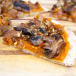 Chipotle Pumpkin Pizza with Caramelized Onions and Mushrooms