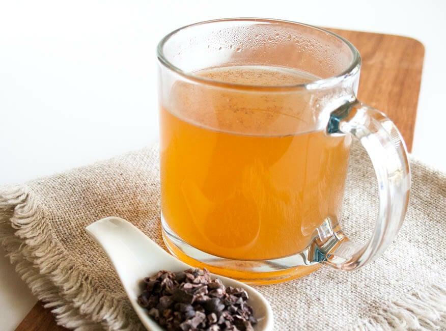 Cacao Tea close up.