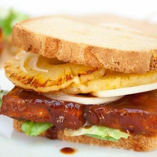 Baked BBQ Tofu Sandwich