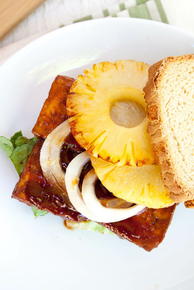 Vegan Tofu Sandwich birds eye view