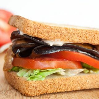 ELT (Eggplant Bacon, Lettuce, and Tomato) Sandwich