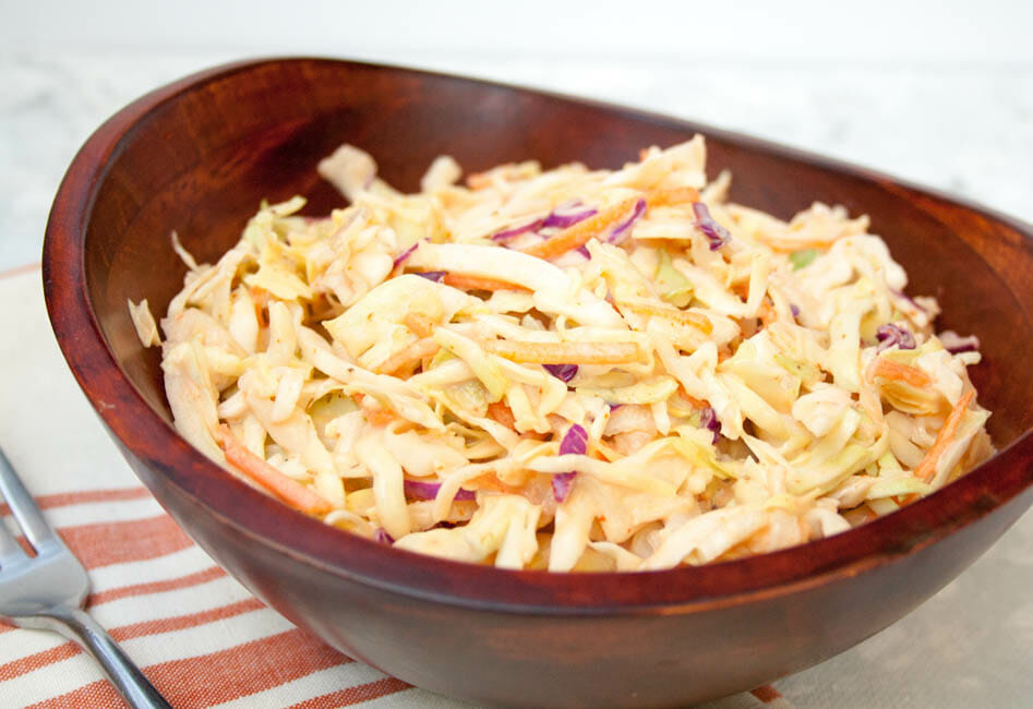 Spicy Coleslaw close up.