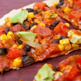 Vegan Enchilada Tortilla Pizza