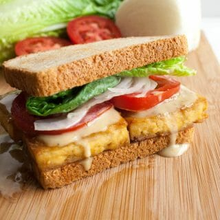 Maple Dijon Baked Tofu Sandwich