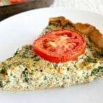 Spinach and Broccoli Vegan Quiche