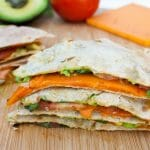 Vegan ALT (Avocado, Lettuce, and Tomato) Quesadilla