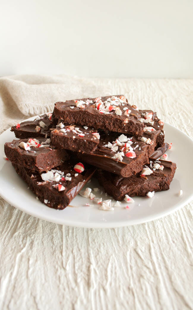 Chocolate Bark with Crushed Candy Canes