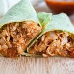 Jackfruit and Cauliflower Rice Burrito