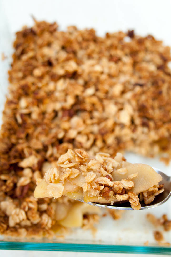 Spoonful of Vegan Apple Crisp