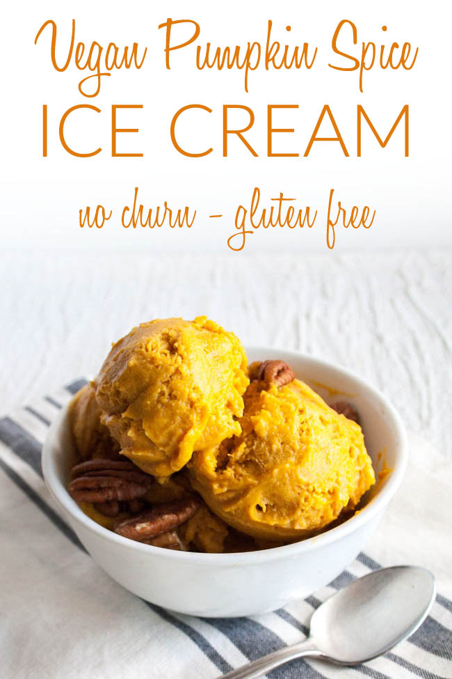 Vegan Pumpkin Spice Ice Cream photo with text.