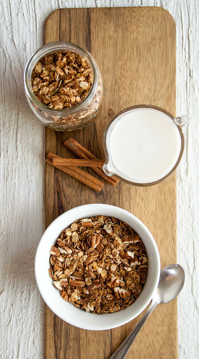 Gingerbread Granola birds eye view.