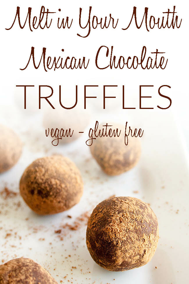 Melt-In-Your-Mouth Mexican Chocolate Truffles photo with text.