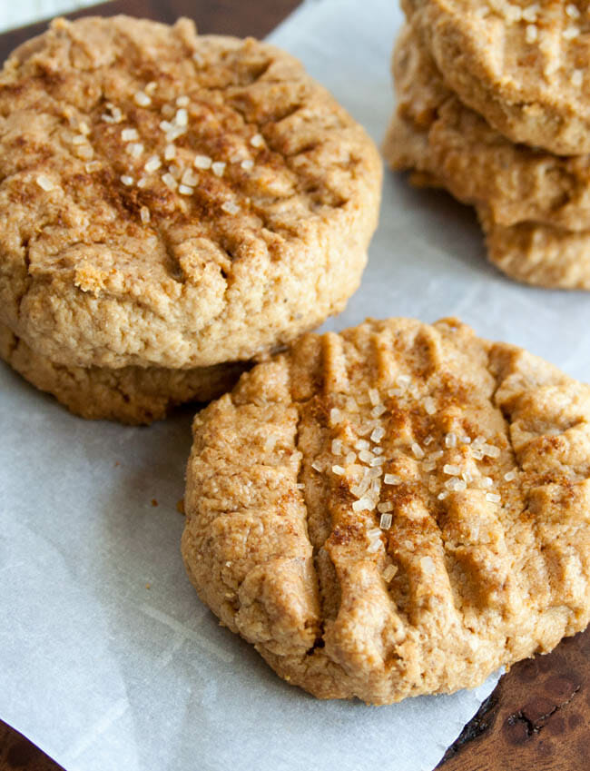 Spicy 4 Ingredient Peanut Butter Cookies close up.