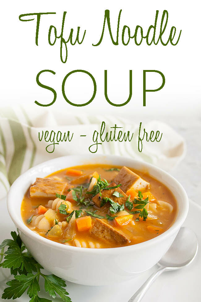 Vegan Tofu Soup photo with text.
