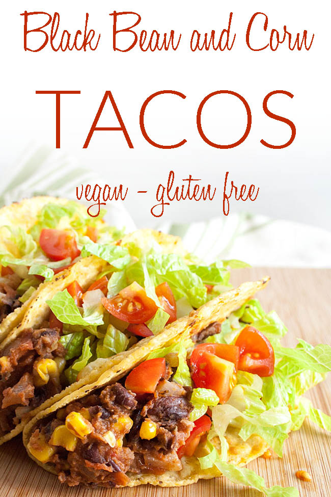 Easy Vegan Tacos photo with text.