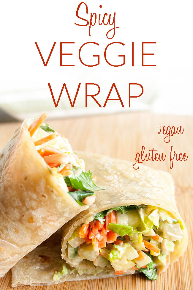 Spicy Veggie Wrap photo with text.