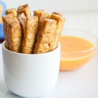 Sriracha Baked Tofu Fries
