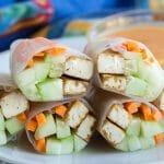 Sriracha Tofu Spring Rolls