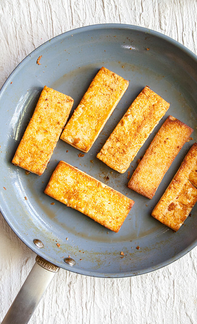 Spicy Tofu in pan