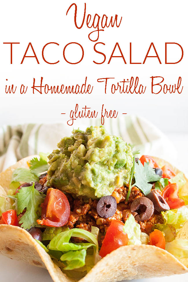 Healthy Taco Salad photo with text.