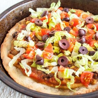 Black Bean and Corn Taco Pizza
