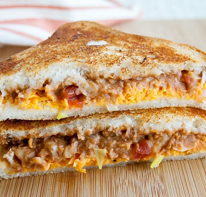 Refried Bean Grilled Cheese
