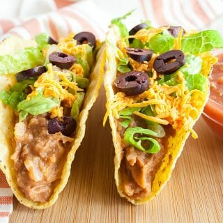 Refried Bean Tacos