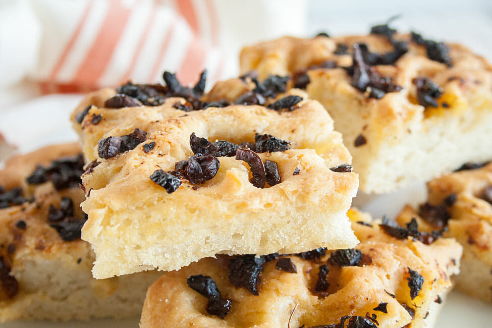 Sun-Dried Tomato and Black Olive Focaccia