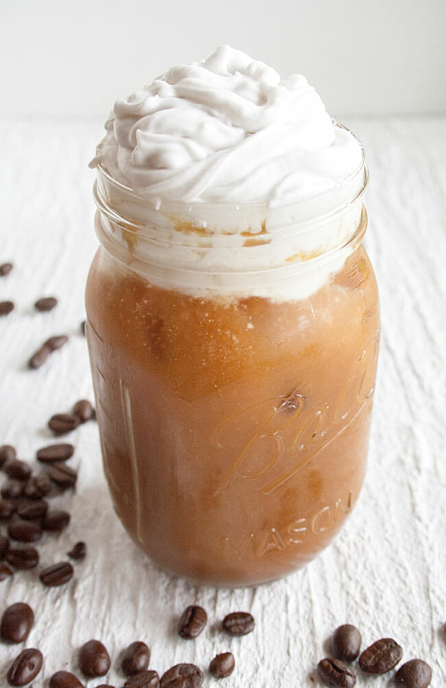 Cold Brew Thai Iced Coffee with Coconut Whipped Cream