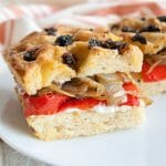 Roasted Red Pepper and Caramelized Onion Focaccia Sandwich