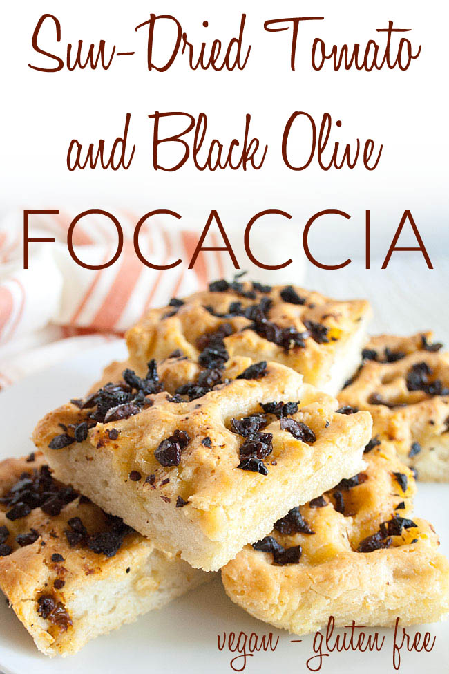 Gluten Free Focaccia Bread photo with text.