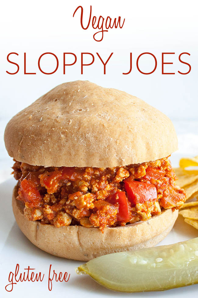 Healthy Sloppy Joes photo with text.