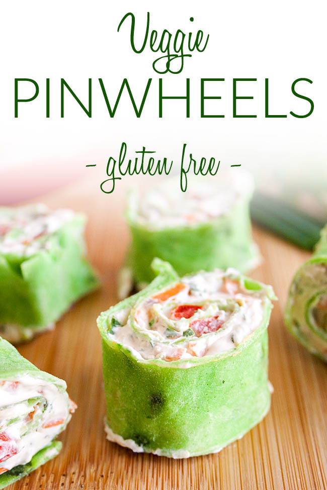 Vegan Cream Cheese Pinwheels photo with text.