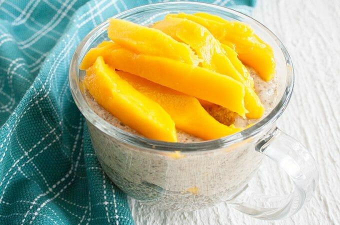 Matcha Mango Chia Pudding