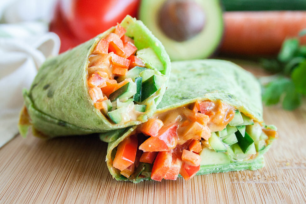 Vegan Wrap close up.