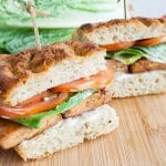 Vegan BLT Focaccia Sandwich