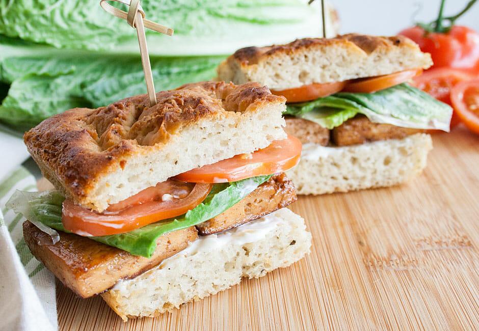 Vegan Blt Focaccia Sandwich Create Mindfully