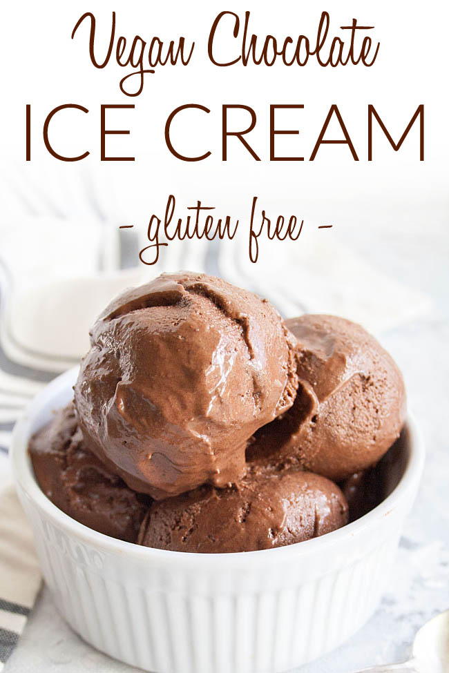 Homemade Chocolate Ice Cream photo with text.
