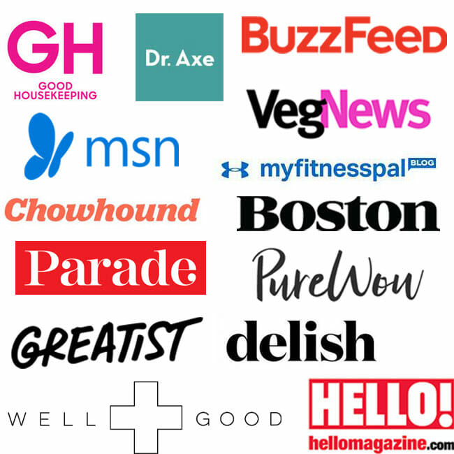 Featured in Good Housekeeping, Dr. Axe, Buzzfeed, MSN and more