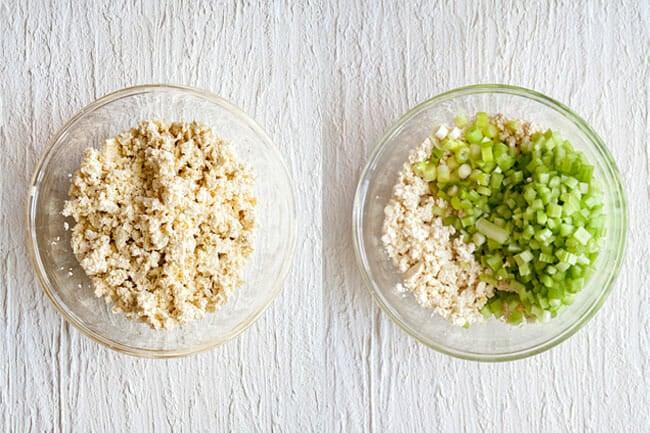 Tofu Salad in bowl.