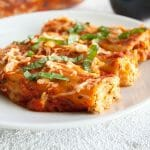 Vegan Manicotti with Tofu Ricotta and Roasted Red Pepper