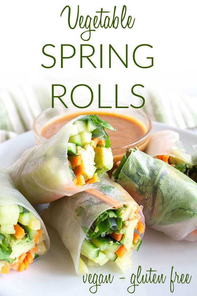 Vegan Salad Rolls photo with text.