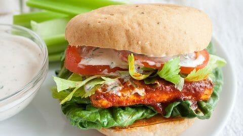 Buffalo Tofu Sandwich