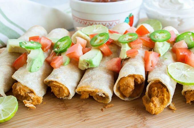 Chipotle Hummus Taquitos