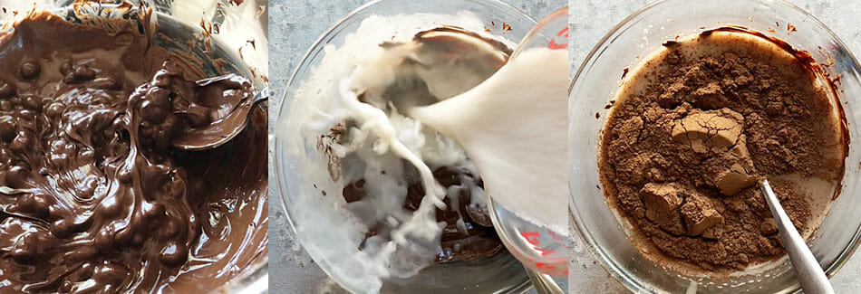 vegan Chocolate Ice Cream being made.