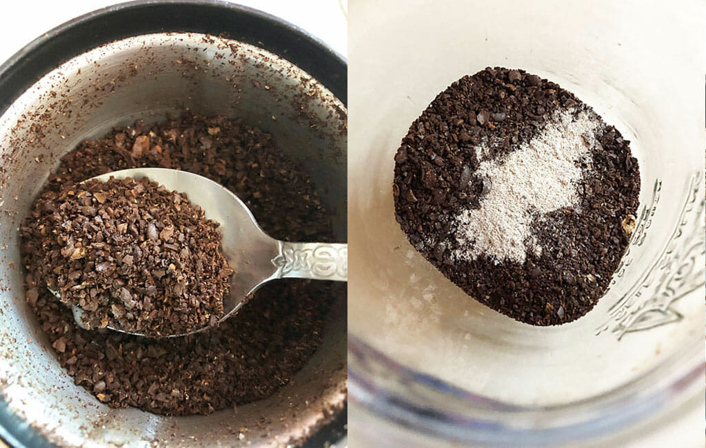 Cold Brew coffee grounds.