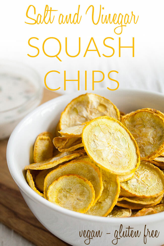 Healthy Salt and Vinegar Chips photo with text.