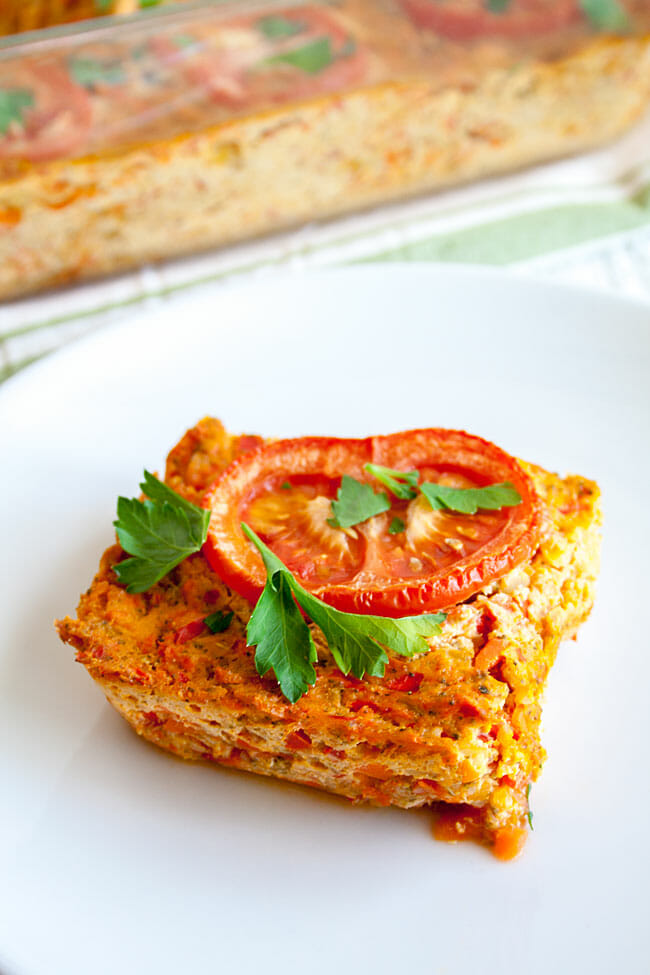 Tofu Frittata on a plate.